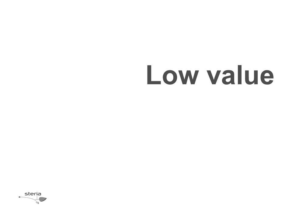 Low value