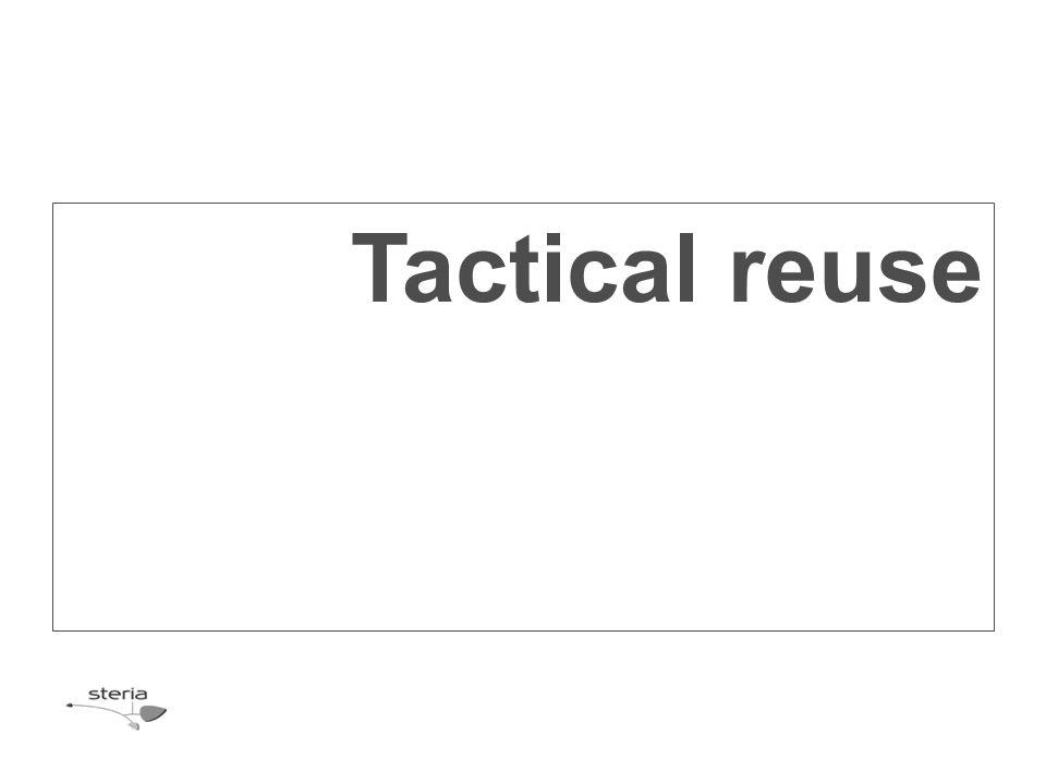 Tactical reuse