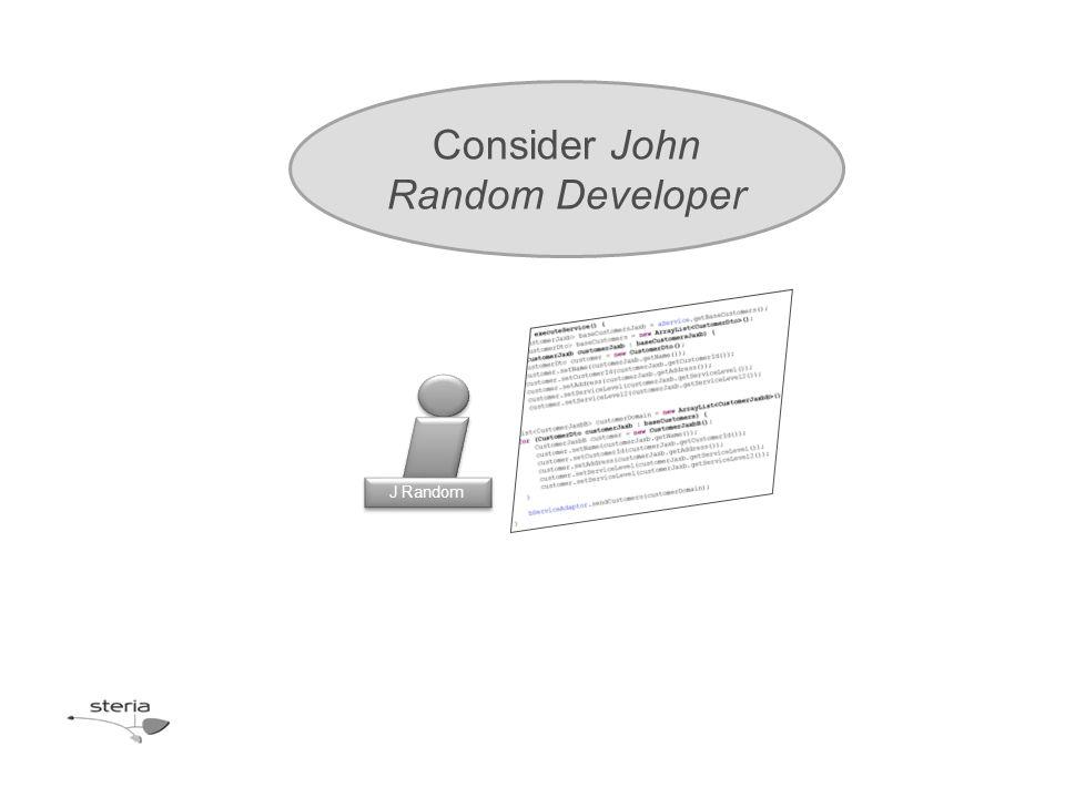 J Random Consider John Random Developer