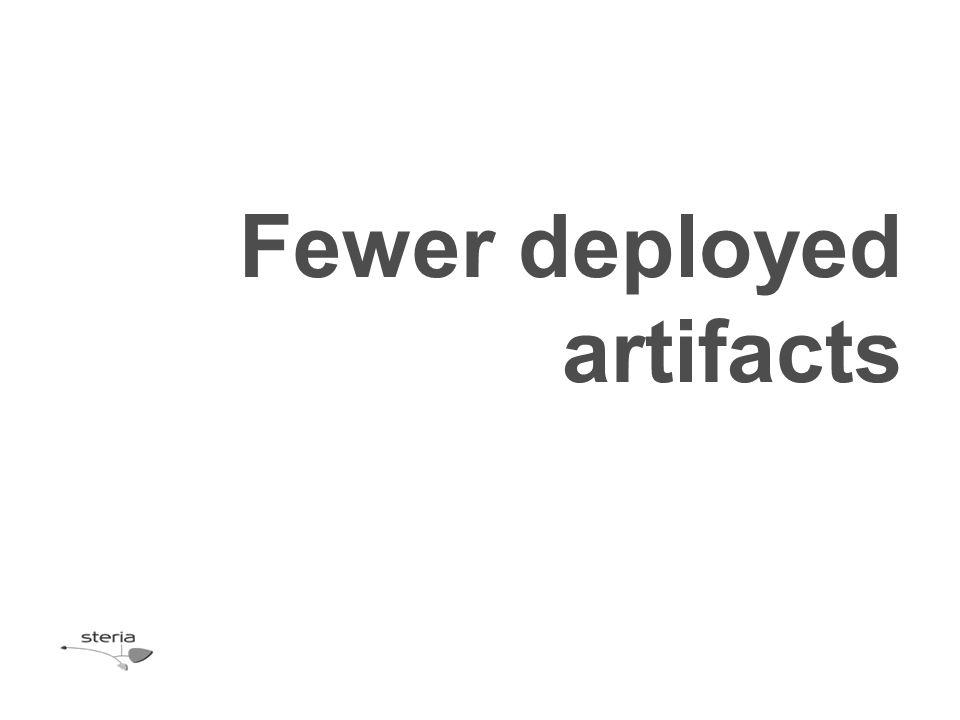 Fewer deployed artifacts