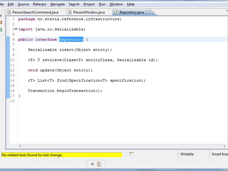 TODO: Repository interface