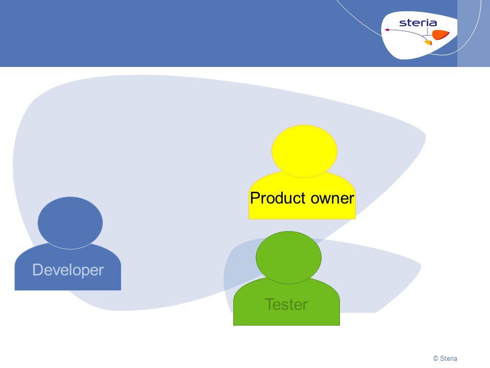 © Steria | 22/10/2014Presentation titlep21 © Steria Developer Product owner Tester