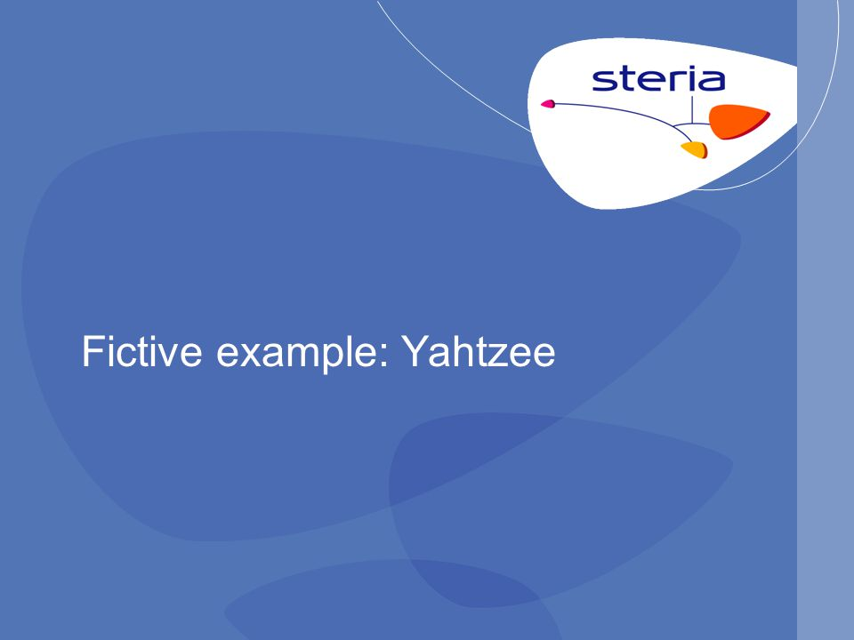 Fictive example: Yahtzee