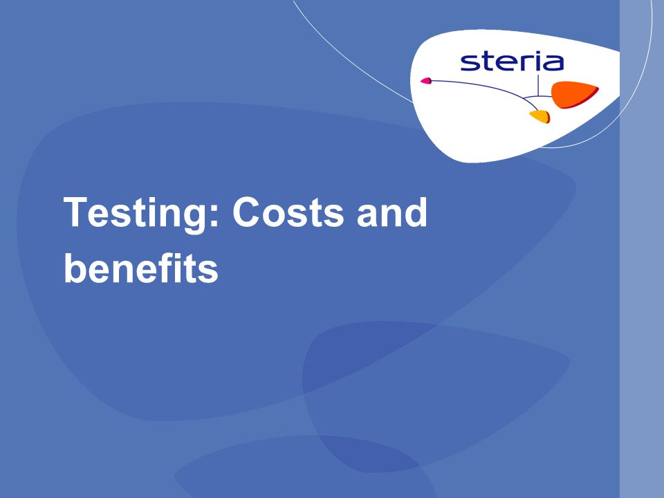 Testing: Costs and benefits