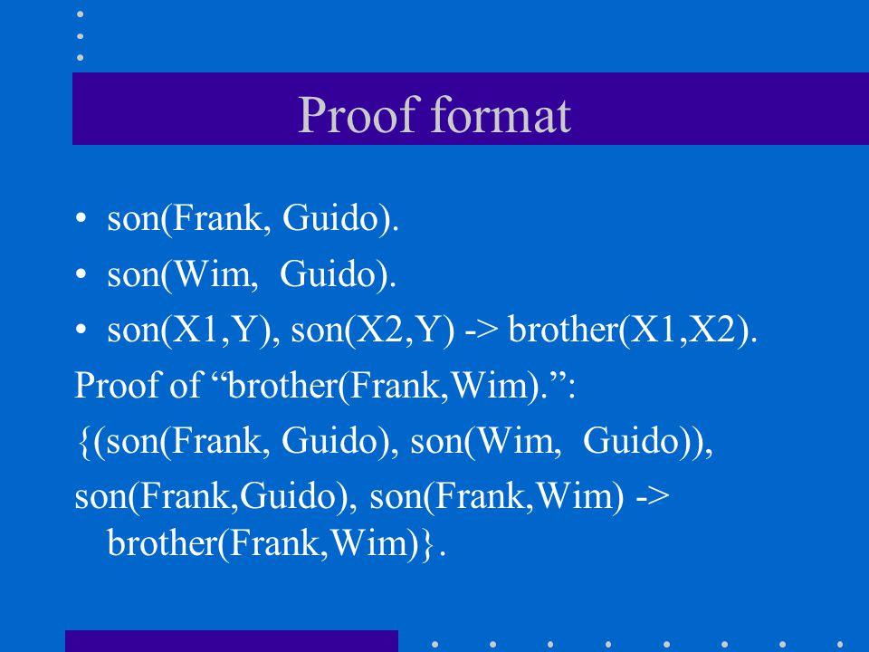 Constructive logic BHK-interpretation(Brouwer, Heyting, Kolmogorov) A proof of A and B is given by presenting a proof of A and a proof of B.