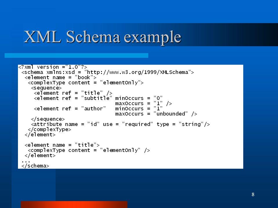 8 XML Schema example
