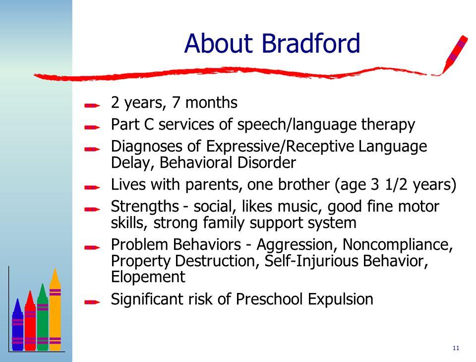 Bradford PBS Application in a Community Preschool