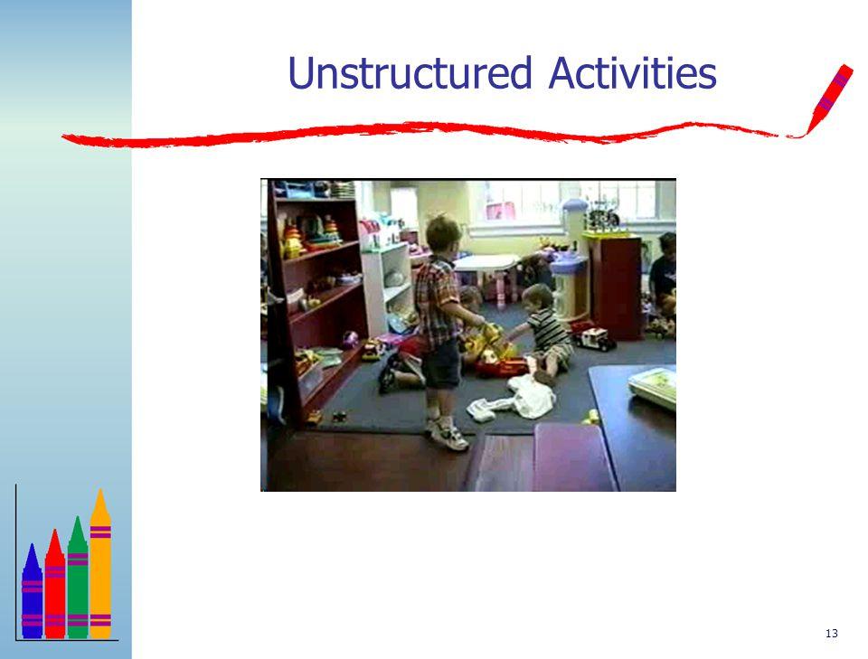 12 Behavior in Target Routine (Unstructured Activities)