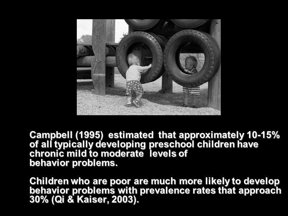The proportion of preschool children meeting the criteria for the clinical diagnosis of ODD (Oppositional Defiant Disorder) ranges from 7% to 25% of children in the United States, depending on the population surveyed ( Webster-Stratton, 1997).