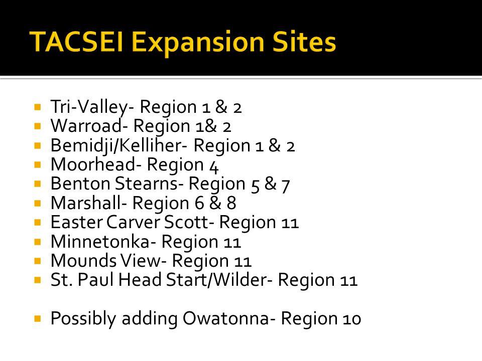  Tri-Valley- Region 1 & 2  Warroad- Region 1& 2  Bemidji/Kelliher- Region 1 & 2  Moorhead- Region 4  Benton Stearns- Region 5 & 7  Marshall- Reg