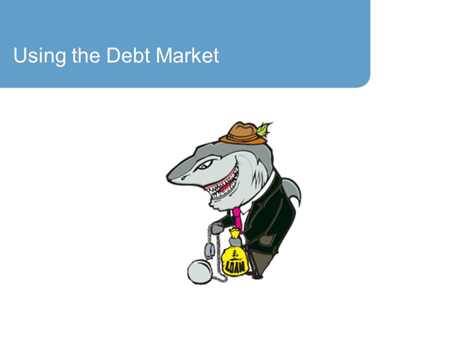 Using the Debt Market