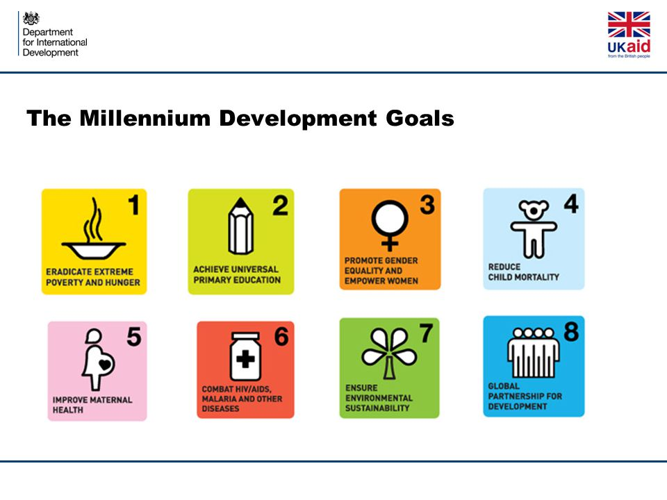 Extract from High level Report TermHow it is used in this reportExample from MDGs Goal Expresses an ambitious, but specific, commitment.