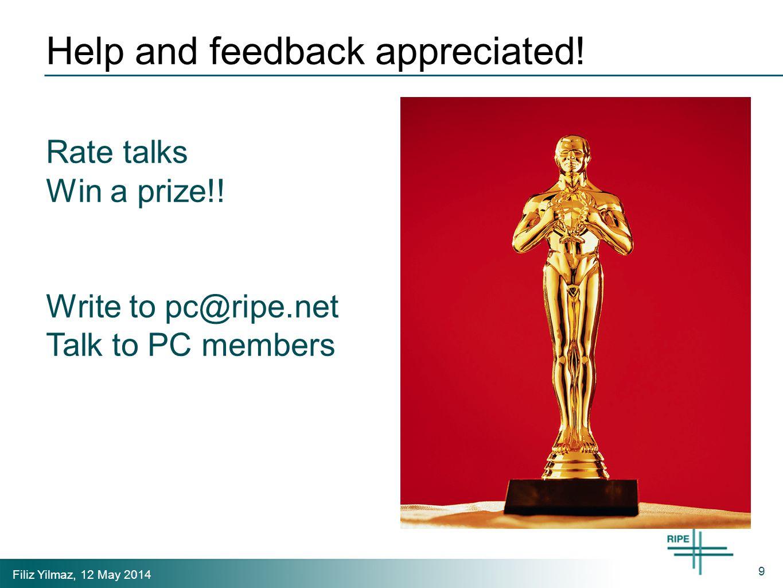 Filiz Yilmaz, 12 May 2014 Help and feedback appreciated.