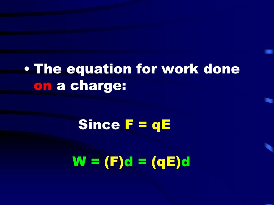 Electric Potential Electric potential (V) is a scalar quantity –It is defined as the energy per unit charge (J/C) at a given point –The unit for electric potential is the volt (1 volt = 1 Joule/Coulomb)