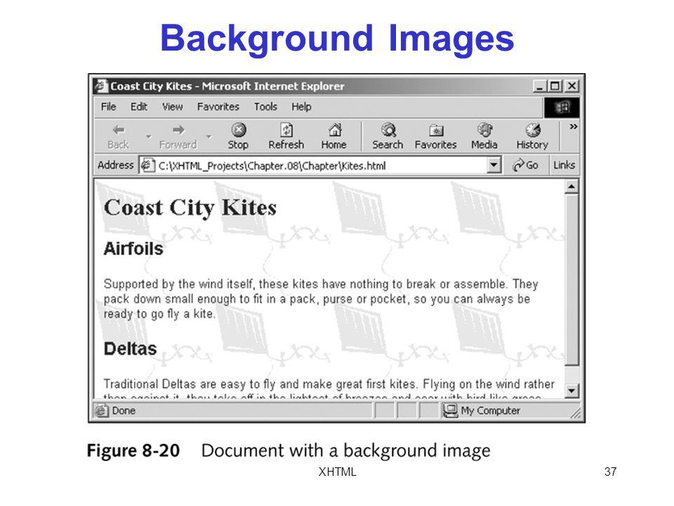 XHTML37 Background Images
