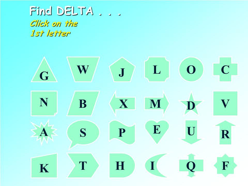 Find DELTA...