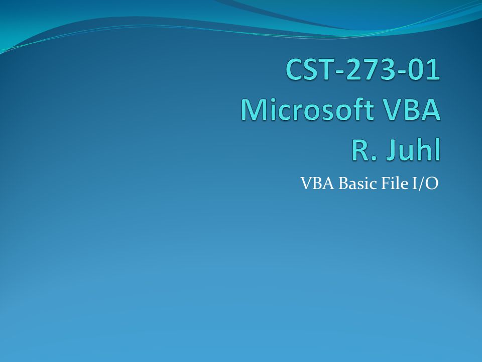 VBA Basic File I/O Use the filters property of the FileDialog object to return the FileDialogFilters collection Use the item property of the FileDialogFilters collection object to return a FileDialogFilter object The Description and Extension properties of the FileDialogFilter object return the description For example, All Files And the file extension used to filter the displayed files For example (*.*)