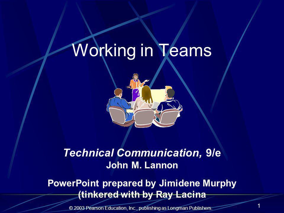 © 2003 Pearson Education, Inc., publishing as Longman Publishers.