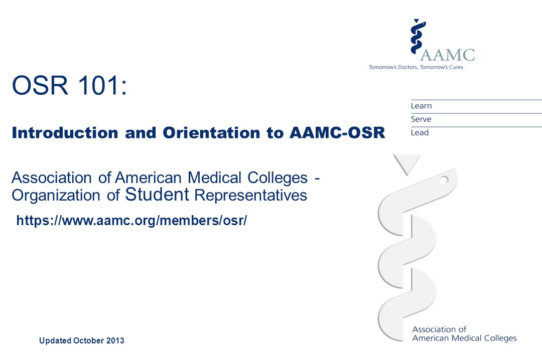 AAMC Mission The AAMC serves and leads the academic medicine community to improve the health of all.