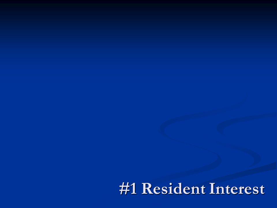 #1 Resident Interest