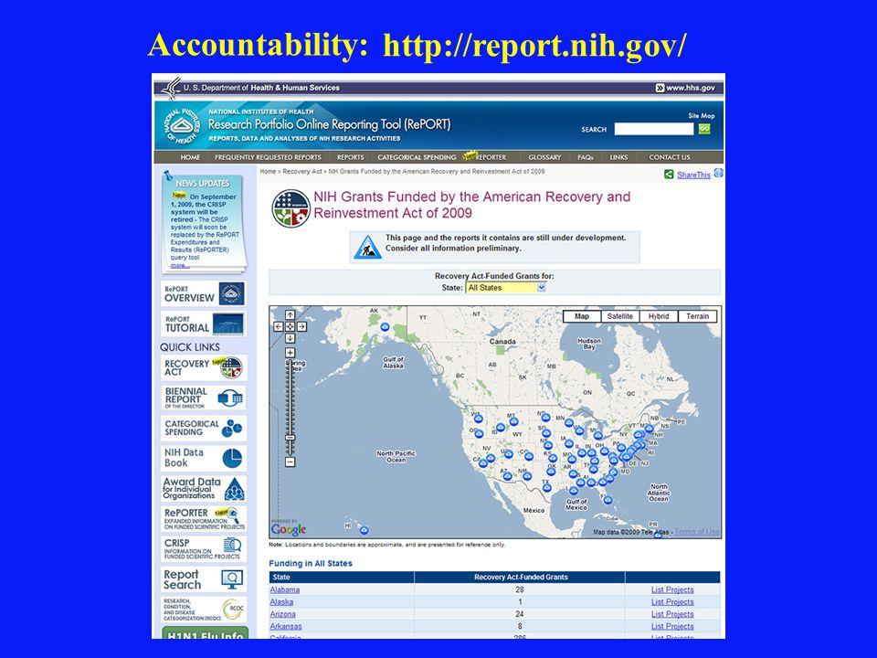 Accountability: http://report.nih.gov/
