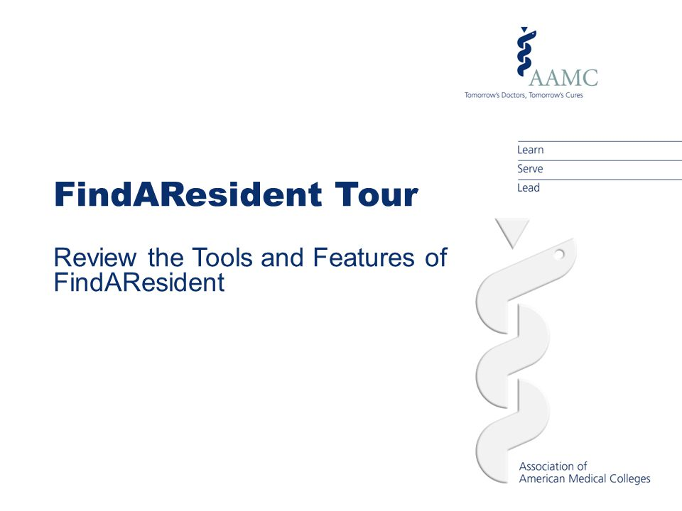 Introducing FindAResident FindAResident is a web-based service designed to provide a direct and efficient way for program administrators to connect with residency and fellowship candidates.