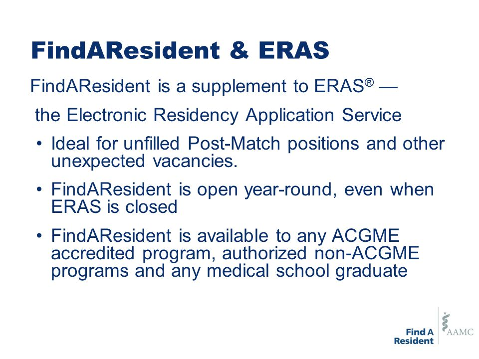 FindAResident Program Subscriptions Subscriptions to FindAResident are free for residency and fellowship physician-training programs.