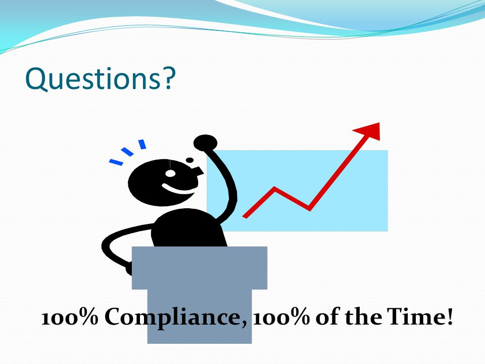 Questions 100% Compliance, 100% of the Time!