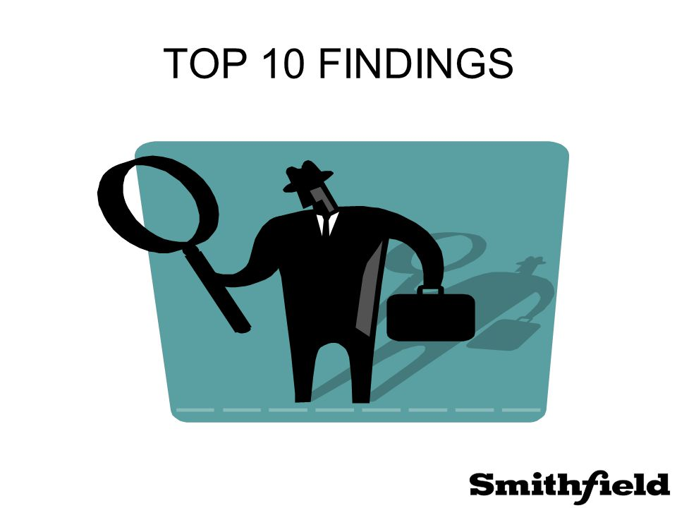 TOP 10 FINDINGS