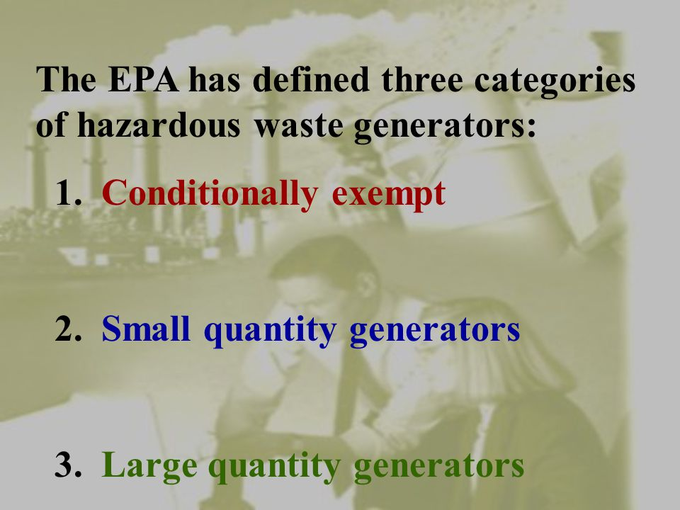 PCB's Check you state regulations to see if PCB's fall under RCRA as well as TSCA.