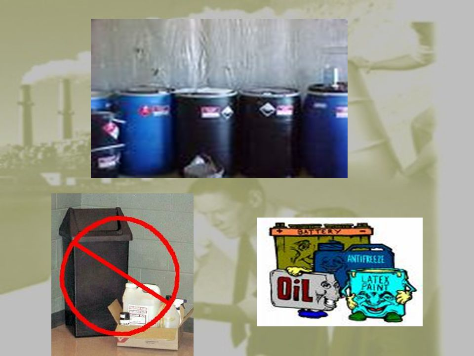 Small Quantity Generators must accumulate wastes in tanks or containers, like 55 gallon drums.