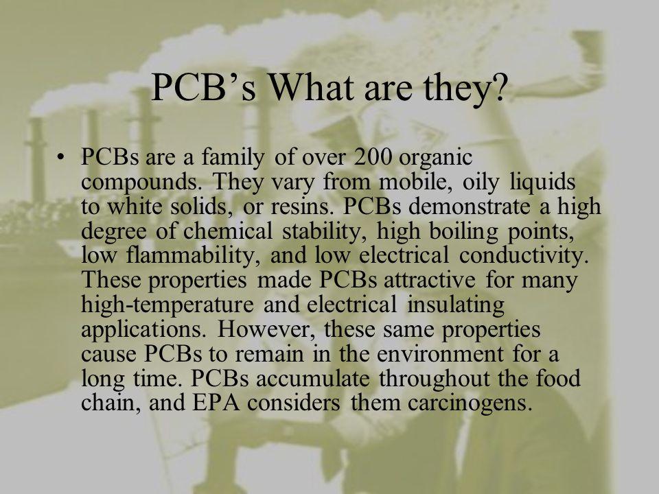 PCB'S (Polychlorinated Biphenyls) Hazardous Waste .