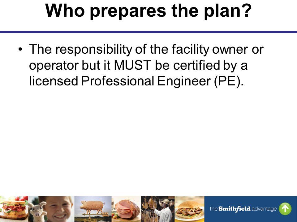 Who prepares the plan.