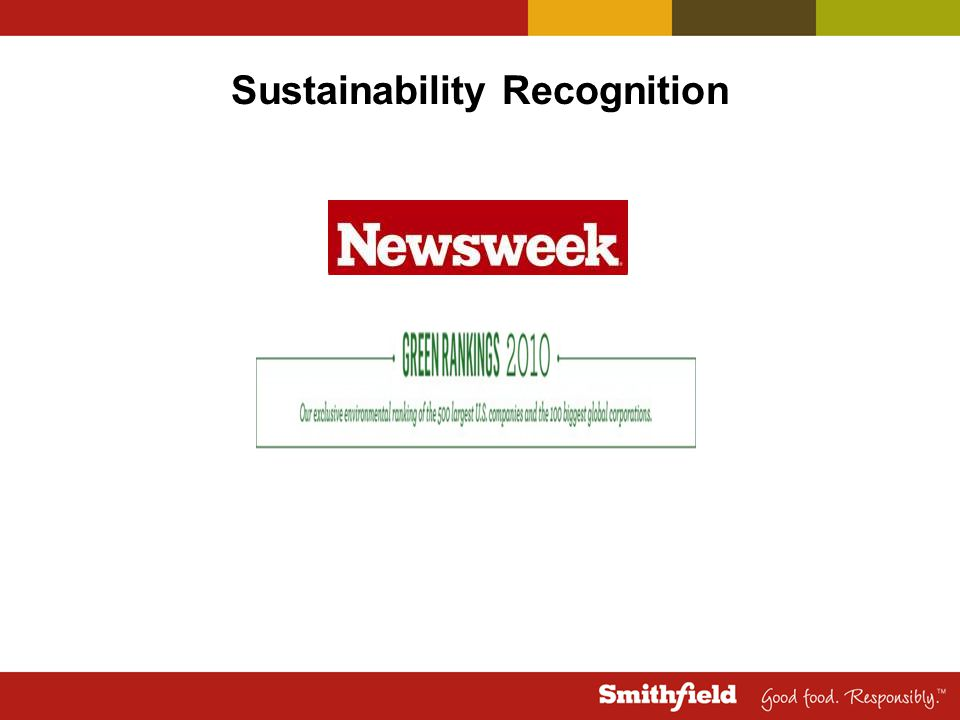 Sustainability Recognition