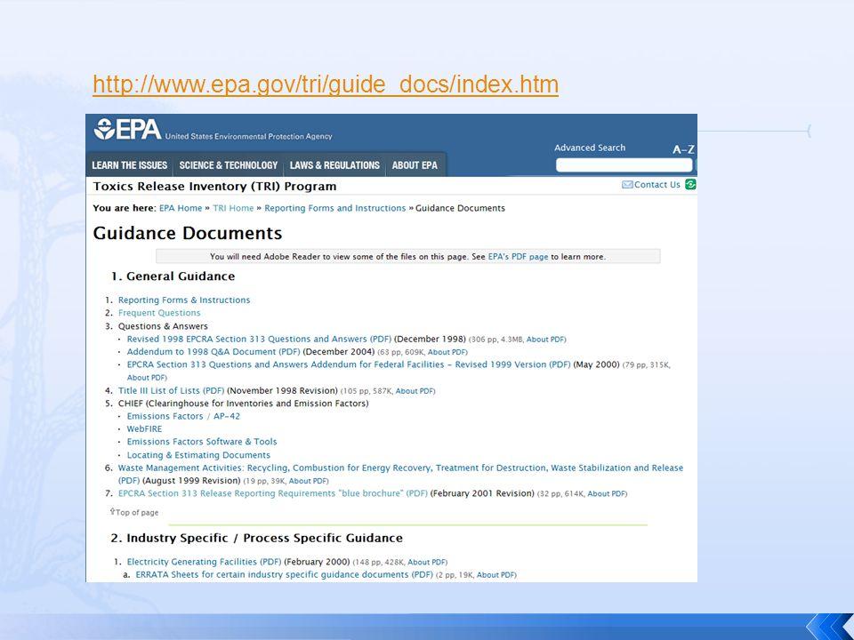 http://www.epa.gov/tri/guide_docs/index.htm