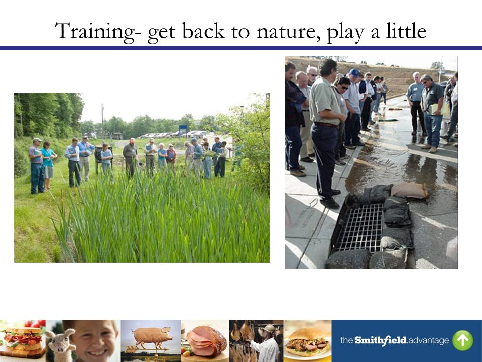 Training- get back to nature, play a little