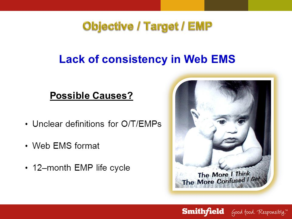 Lack of consistency in Web EMS Possible Causes.
