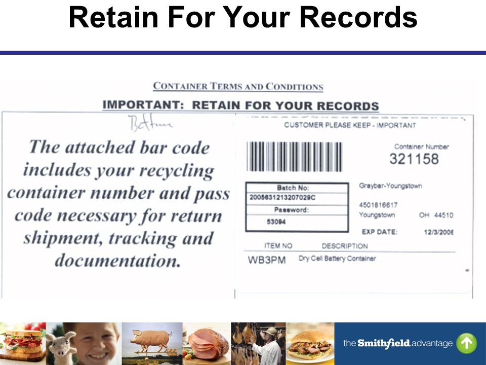 Retain For Your Records