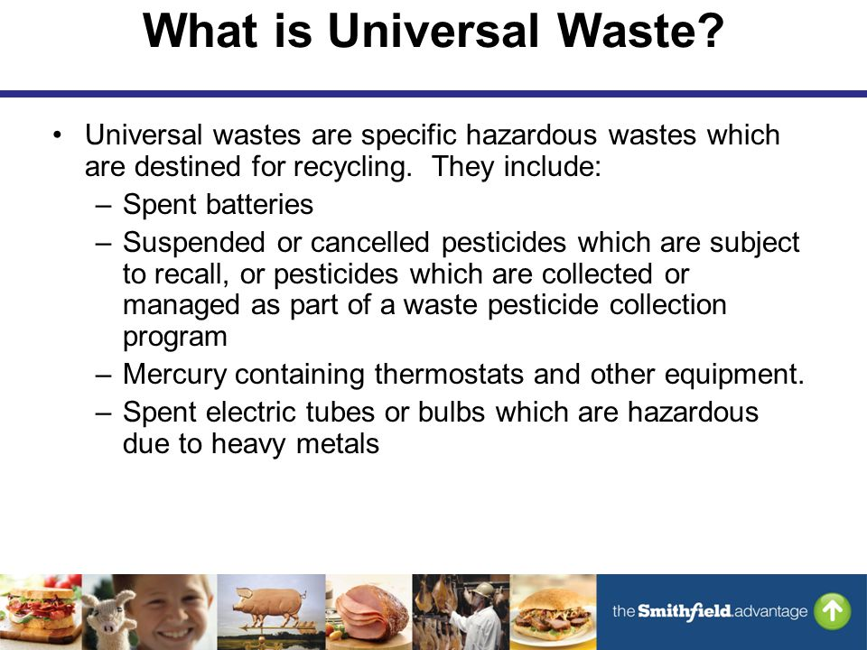 What is Universal Waste.