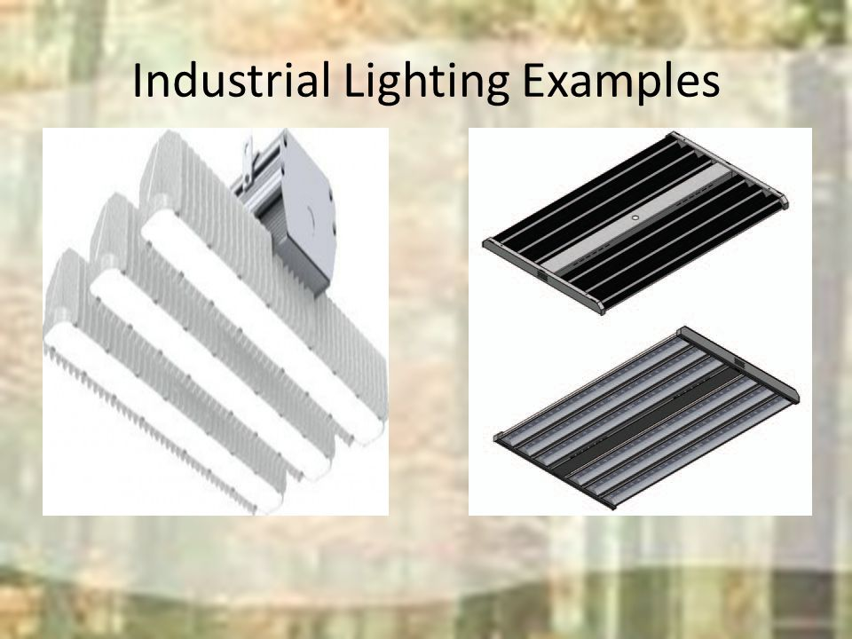 Industrial Lighting Examples