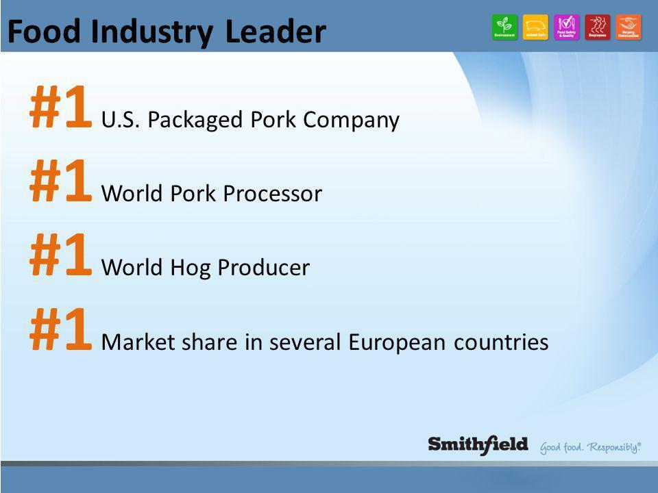 Food Industry Leader #1 U.S.