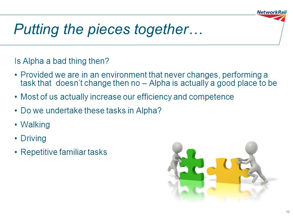 10 Putting the pieces together… Is Alpha a bad thing then.