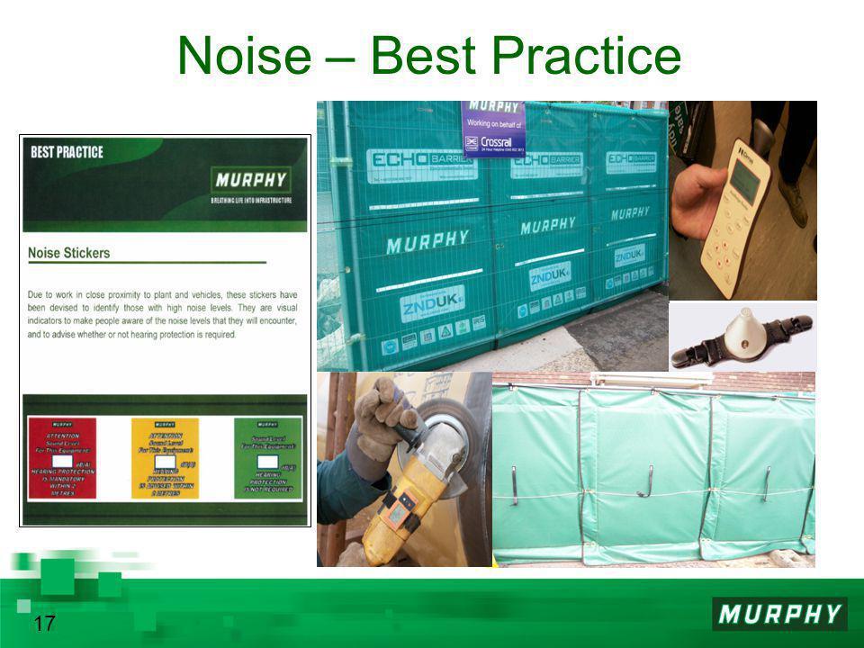 Noise – Best Practice 17