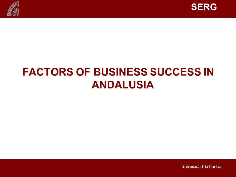 SERG Universidad de Huelva FACTORS OF BUSINESS SUCCESS IN ANDALUSIA