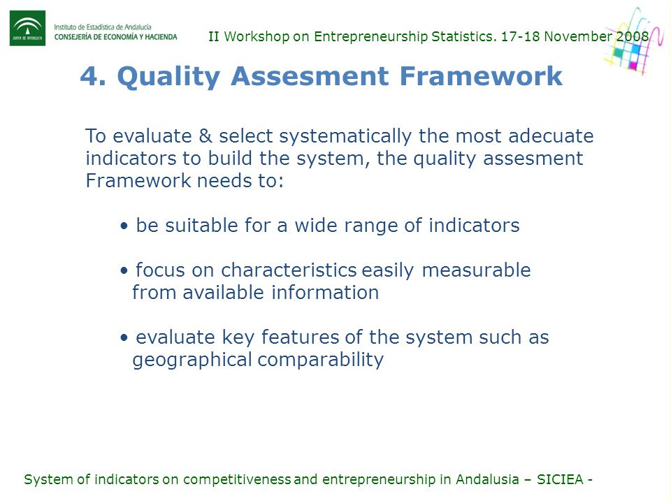 II Workshop on Entrepreneurship Statistics. 17-18 November 2008 4.