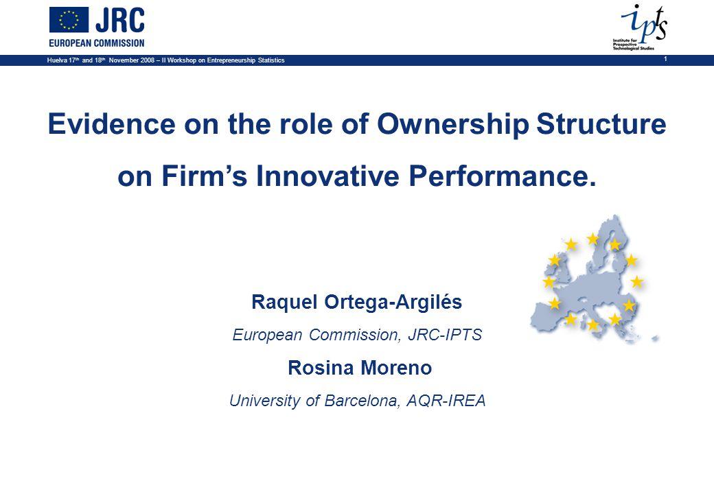 Huelva 17 th and 18 th November 2008 – II Workshop on Entrepreneurship Statistics 12 Variables: