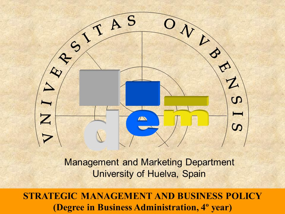 Management and Marketing Department University of Huelva, Spain http://www.uhu.es/alfonso_vargas/ vargas@uhu.es