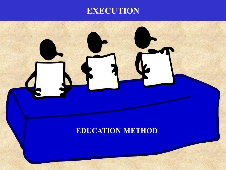 EXECUTION EDUCATION METHOD