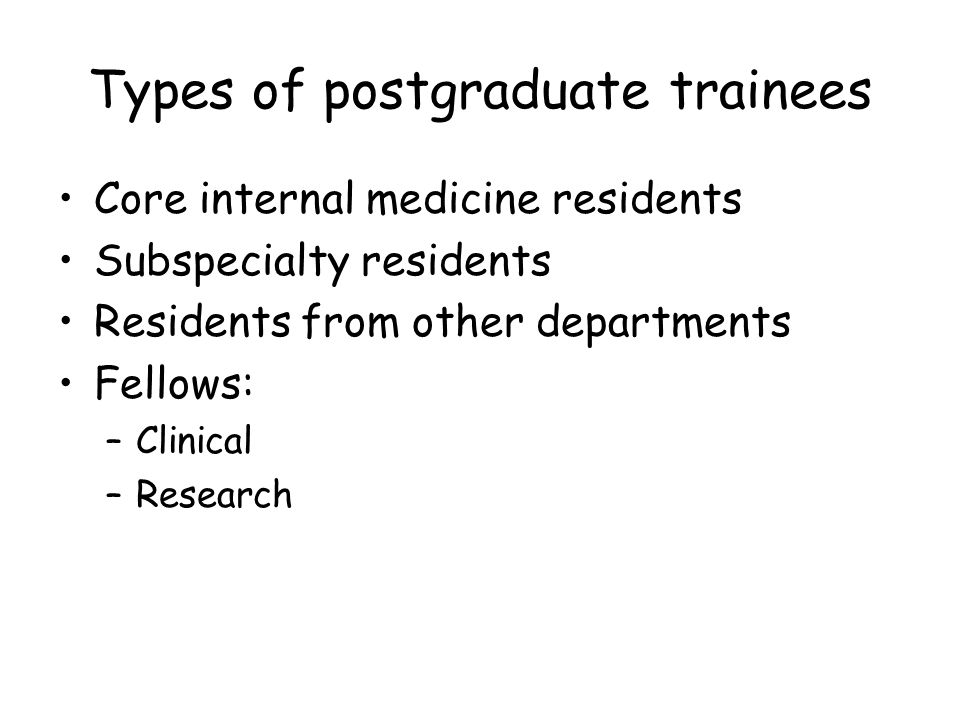 Contacts with postgraduate trainees Attending staff Formal rounds or academic half-days Examiner, interviewer, or judge Mentor Advocate Research supervisor Educational administrator