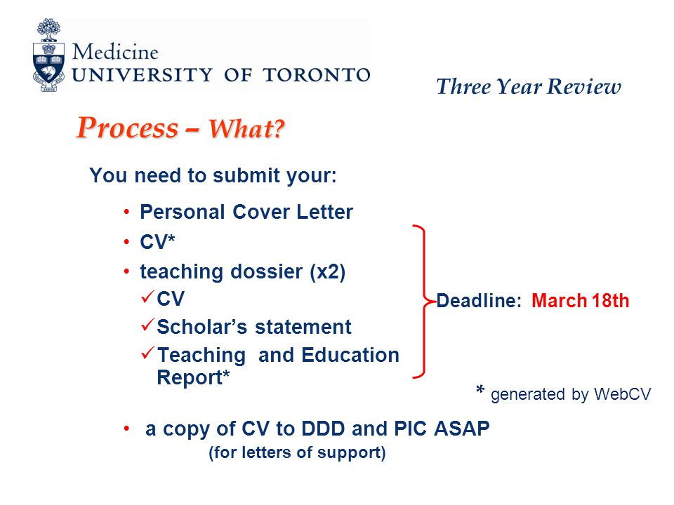 Three Year Review Next step start working on the documents for your promotion to Associate Professor !